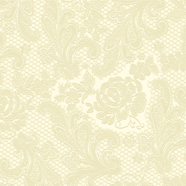 Lace Embossed ivory 25x25