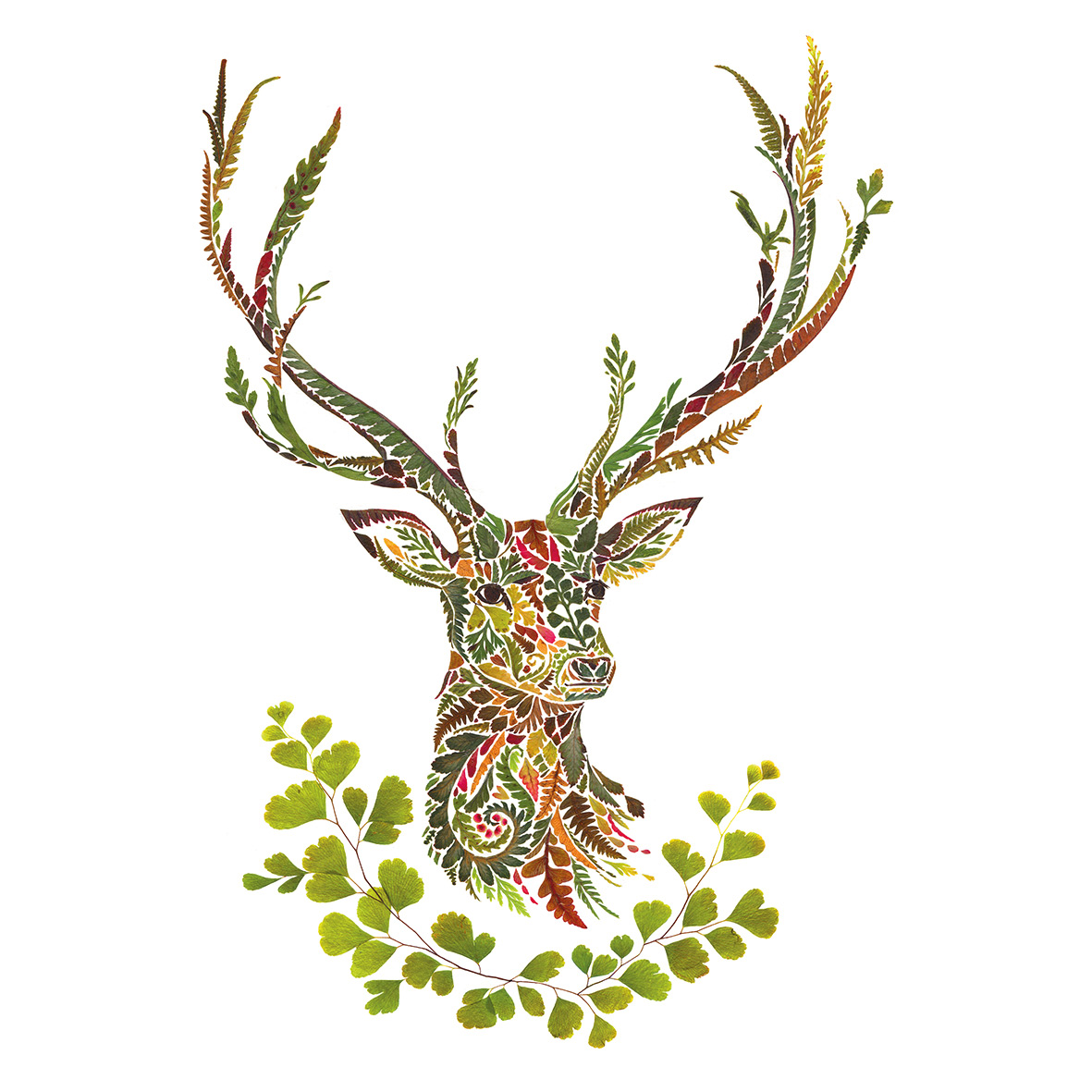 Green Deer Napkin 33x33
