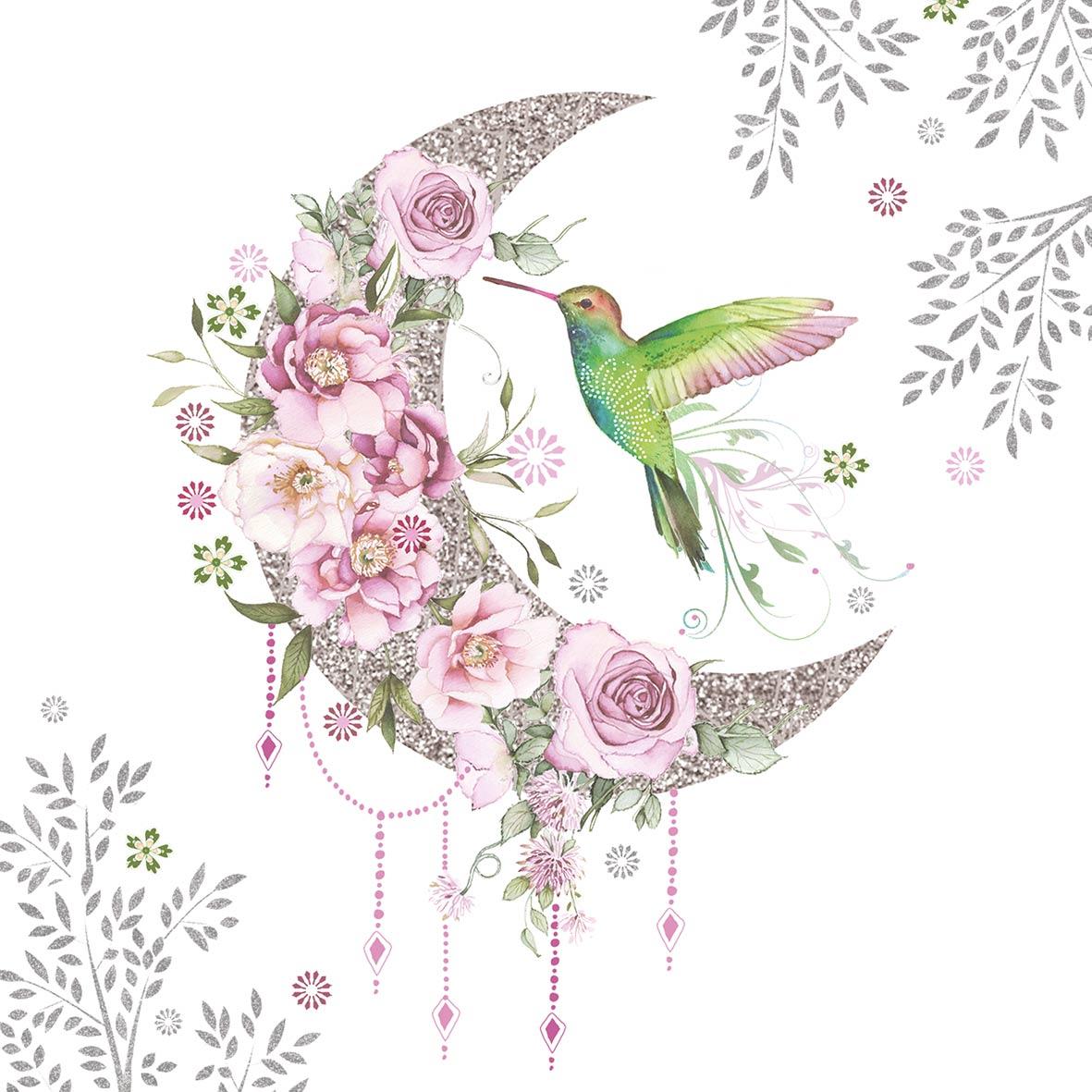 Hummingbird Moon 33x33 cm