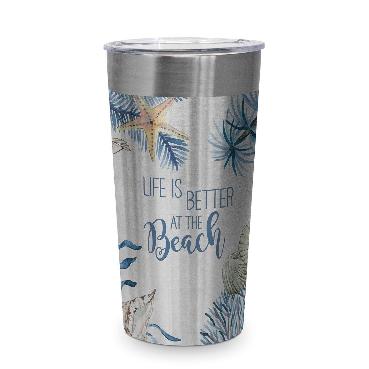 Ocean Life is better Steel Travel Mug