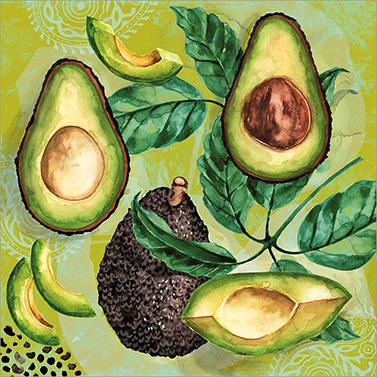 Avocado 33x33 cm