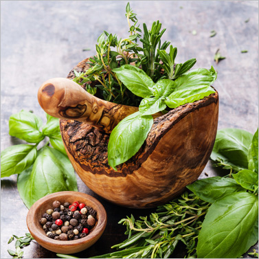 Kitchen Herbs 33x33cm