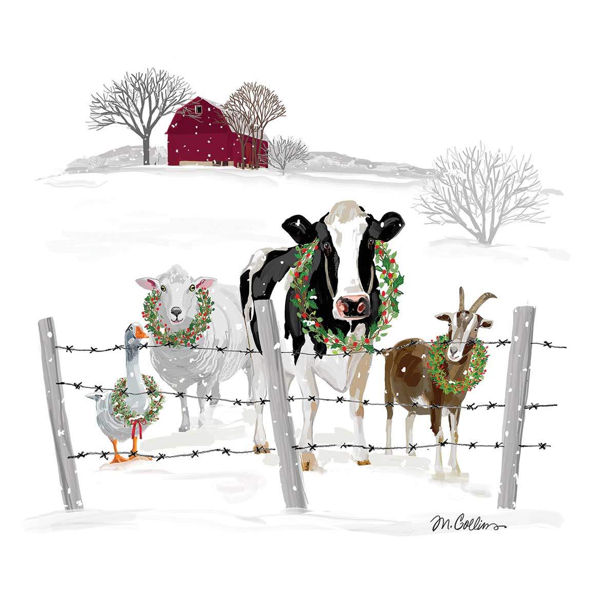 Holiday Farm Friends Napkin 33x33
